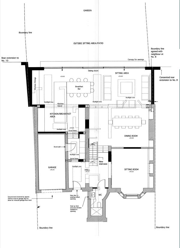 Wimbledon Villa, Ground Floor Plan - After